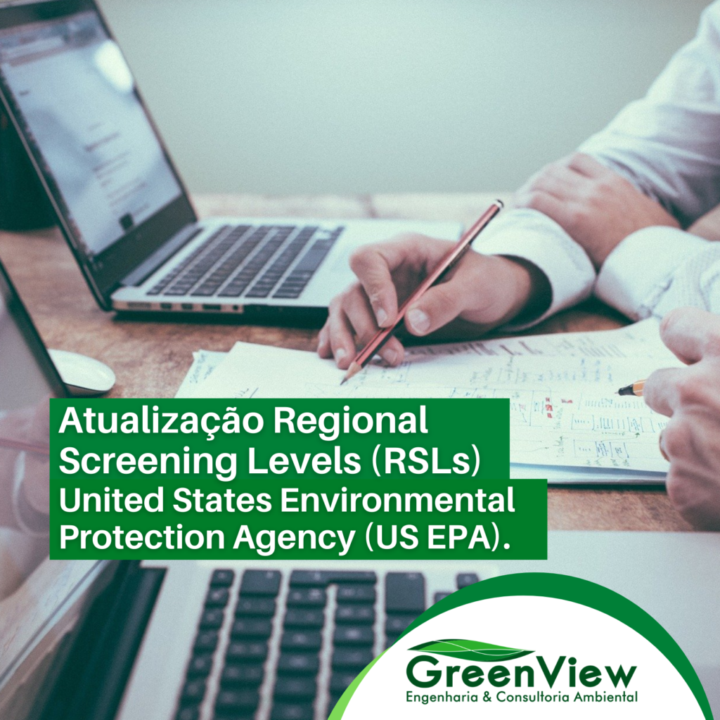 Atualização Regional Screening Levels (RSLs) United States Environemntal Protection Agency (US EPA) maio 2021